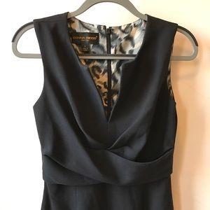 DONNA RICCO Black Sleeveless Fully-Lined Sheath 4